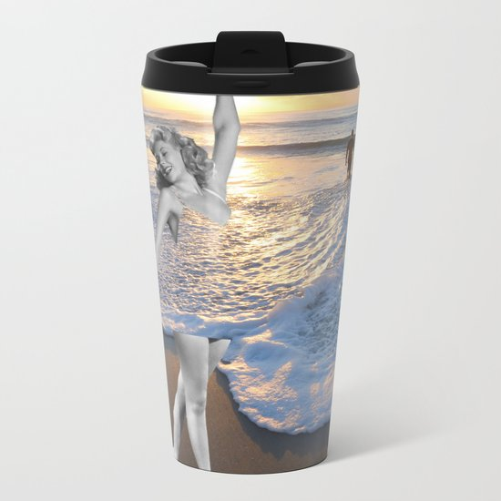 Like a wave Metal Travel Mug