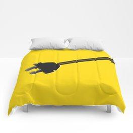 Yellow Power Cord Comforters