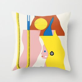 SPACE DAMES Throw Pillow