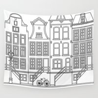 amsterdam Wall Tapestries featuring AMSTERDAM by Anna Lindner