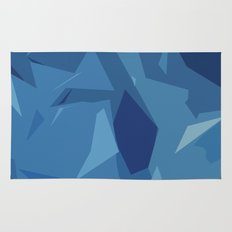 Blue Abstract Map Rug