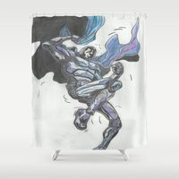 hero Shower Curtains featuring Hero? by Steven Goddard