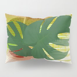 Monstera MCM Abstract Pillow Sham