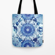 Blue Poppy Mandalas Tote Bag