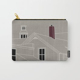 Cityscape Urban Illustration in Warm Grey Carry-All Pouch