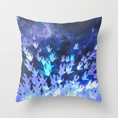 H.E.L.L.O. / blue version Throw Pillow