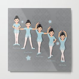 The Ballet Lesson Metal Print