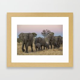 To the Watering Hole Framed Art Print