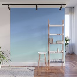 Blue to Aqua Ombre Wall Mural