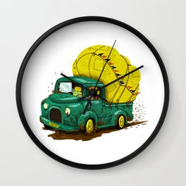 trucks and luggage Wall Clock