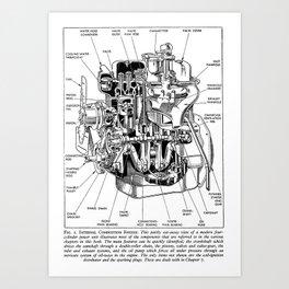 Internal Combustion Engine Art Print