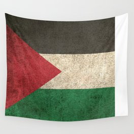 Old and Worn Distressed Vintage Flag of Palestine Wall Tapestry