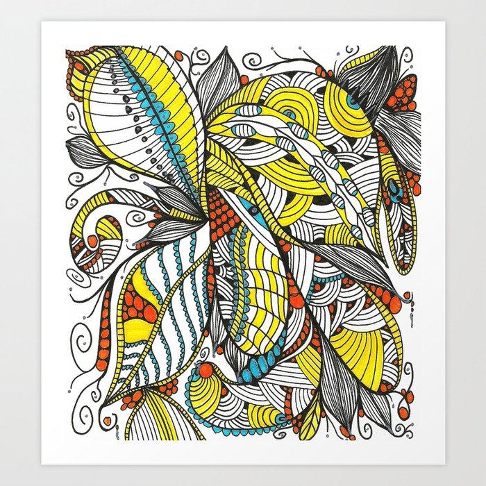 Leaf Bouquet Art Print
