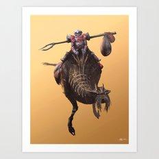 Golem traveler Art Print