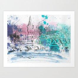 Spring in Dinant Art Print