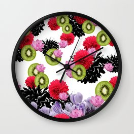 RAINING KIWI Wall Clock