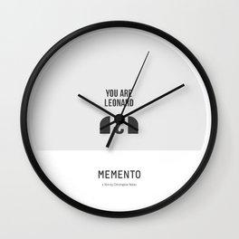Flat Christopher Nolan movie poster: Memento Wall Clock