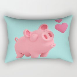 Rosa the Pig blow kisses Rectangular Pillow
