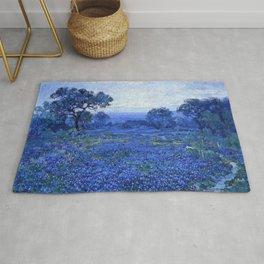 Bluebonnet pastoral scene landscape painting by Robert Julian Onderdonk Rug