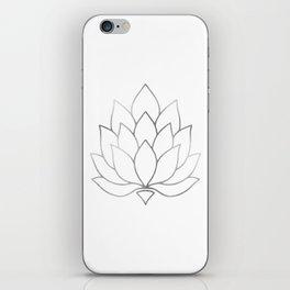Silver Foil Lotus Flower iPhone Skin