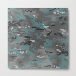 Camouflage: Arctic Blue and Grey Metal Print