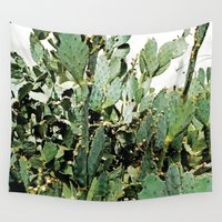 cacti Wall Tapestries featuring Cacti by PoseManikin