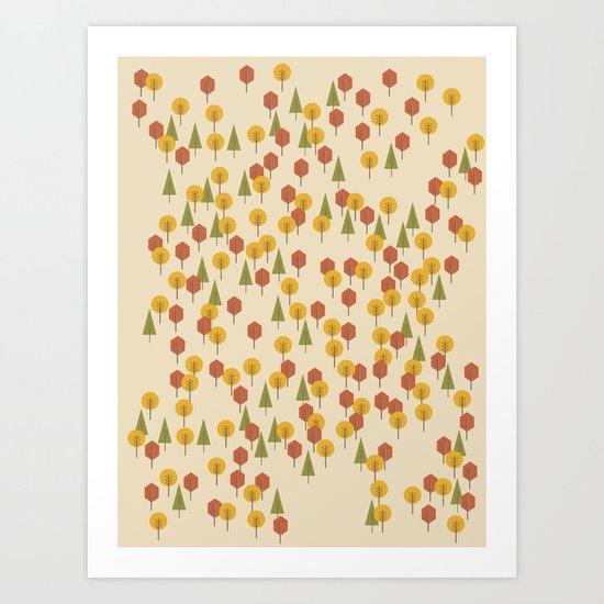 Geometric Woods Ver. 3 Art Print