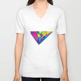 bright abstraction 3 Unisex V-Neck