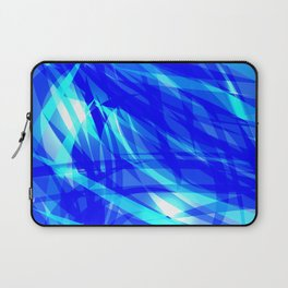 Vector glowing water background made of blue sea lines. Laptop Sleeve
