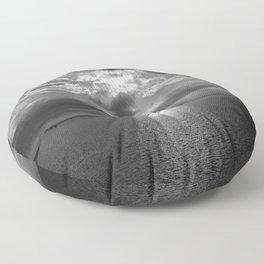 Cloudscape in black and white Floor Pillow