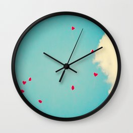 Red Dots Of Love Wall Clock