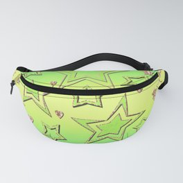 Bright green , neon , stars , lime ,yellow Fanny Pack