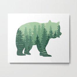 Forest Bear Metal Print
