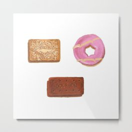 Custard Cream, Bourbon & Party Ring Metal Print