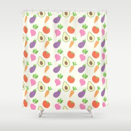 Mixed Vegetable Shower Curtain