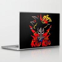 dbz Laptop & iPad Skins featuring Goku Skull DBZ by offbeatzombie