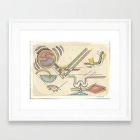 kandinsky Framed Art Prints featuring In the Key of Kandinsky (2014) by Eli Dorman