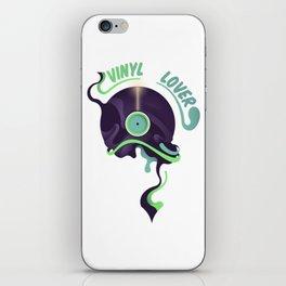 Vinyl record lover iPhone Skin