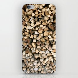 Chopped wood iPhone Skin