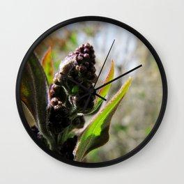 Lilac Buds Wall Clock