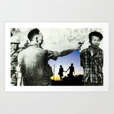 War Time hand holding Art Print