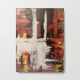 Harlequin with a Glass Flattened by Gravity Metal Print