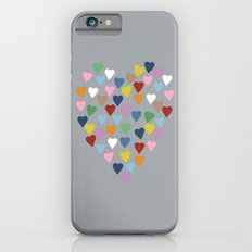 Hearts Heart Multi Grey iPhone 6s Slim Case