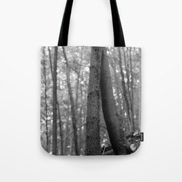 Old love, black and white photography trees Tote Bag