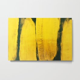 Abstract yellow hand painted on green vintage illustration background Metal Print