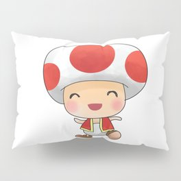 Red mushroom Plumber's collection Pillow Sham