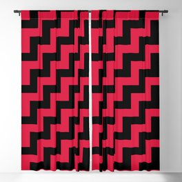 Black and Crimson Red Steps RTL Blackout Curtain