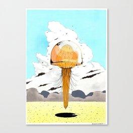 Méduse volante #4 Canvas Print