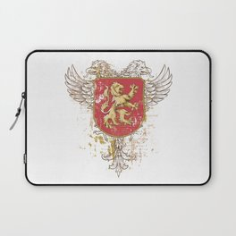 Coat of Arms Shield - Griffin Seal - Crown Lion and the Mark Laptop Sleeve