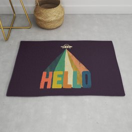 Hello I come in peace Rug